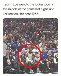 That's how you know LeBron is the real coach 💀😂 - Follow @_nbamemes._: Tyronn Lue went to the locker room in  the middle of the game last night, and  LeBron took his seat  . @-.NBAMEMES: That's how you know LeBron is the real coach 💀😂 - Follow @_nbamemes._