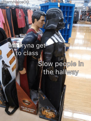 Meirl: u/BerryNoiceOG  Me tryna get  to class  ZE  ADER  ue  Slow people in  the hallway  GAANT SIZE SUPERMAN  0PERMAN GEANT  NAR  US EGU LAST  7 POINTS Meirl