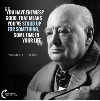 Life, Memes, and Good: U HAVE ENEMIES?  YOU'VE STOOD UP  SOME TIME IIN  GOOD. THAT MEANS  FOR SOMETHING  YOUR LIFE  WINSTON CHURCHILL  TURNIN  POINT USA You Have Enemies? GOOD! #BigGovSucks