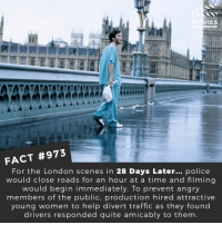 What is your favorite Zombie movie? 🎬🎥 • • • • Double Tap and Tag someone who needs to know this 👇 All credit to the respective film and producers. Movie Movies Film TV Cinema MovieNight Hollywood batman 28dayslater zombie london dannyboyle 28weekslater: U KNOW  IES  FACT #973  For the London scenes in 28 Days Later... police  would close roads for an hour at a time and filming  would begin immediately. To prevent angry  members of the public, production hired attractive  young women to help divert traffic as they found  drivers responded quite amicably to them What is your favorite Zombie movie? 🎬🎥 • • • • Double Tap and Tag someone who needs to know this 👇 All credit to the respective film and producers. Movie Movies Film TV Cinema MovieNight Hollywood batman 28dayslater zombie london dannyboyle 28weekslater