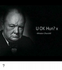 Memes, Huns, and Winston Churchill: U OK Hun? x  Winston Churchill