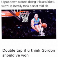 doubletap if he should have won ✊🏾 Who is better Curry or Kobe? 🤔 - Follow @Sportzmixes For More! 🏀 - cute love dubai lol crazy: U put down a dunk doing this and dont  win? He literally took a seat mid air.  dont  DALAMY  Double tap if u think Gordon  should've won doubletap if he should have won ✊🏾 Who is better Curry or Kobe? 🤔 - Follow @Sportzmixes For More! 🏀 - cute love dubai lol crazy