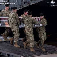 Abc, Memes, and News: U.S.  Army  abc  Dover Air Force Base  NEWS Dignified transfer ceremony held at Dover for U.S. Army Staff Sgt. Dustin Wright, killed in Niger ambush. https://t.co/vKpPdez1qp