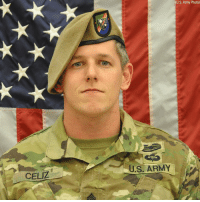 Memes, Army, and Afghanistan: (U.S. Army Photo)  U.S, ARMY  CELIZ Rest In Peace Army SFC Christopher A. Celiz of South Carolina who was killed during combat operations on July 12th in Afghanistan. Don't let this hero go unnoticed or forgotten. https://t.co/wnlowGOHVE