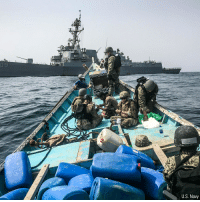 Memes, Taken, and Cache: U.S. Navy The USNavy released incredible photos taken as sailors intercepted a large cache of small arms, including hundreds of AK-47s, that were on a ship in the Gulf of Aden earlier this week. Officials have not disclosed from where the weapons shipment originated.