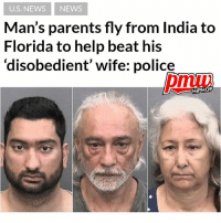 The parents of a 33-year-old man flew from India to Florida to beat his wife after he told them she was disobedient, police said. Devbir Kalsi was arrested Saturday along with his parents Jasbir and Bhupinder Kalsi, after deputies found his wife Silky Gaind severely bruised all over her body. Gaind was beaten, held against her will, and on one occasion, threatened with a kitchen knife by her 67-year-old father-in-law, according to the arrest report.- continue reading at pmwhiphop link in bio: U.S. NEWS NEWS  Man's parents fly from India to  Florida to help beat his  disobedient' wife: police  HIPHOP The parents of a 33-year-old man flew from India to Florida to beat his wife after he told them she was disobedient, police said. Devbir Kalsi was arrested Saturday along with his parents Jasbir and Bhupinder Kalsi, after deputies found his wife Silky Gaind severely bruised all over her body. Gaind was beaten, held against her will, and on one occasion, threatened with a kitchen knife by her 67-year-old father-in-law, according to the arrest report.- continue reading at pmwhiphop link in bio