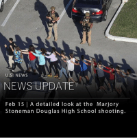 "cnn.com, Fire, and Memes: U.S: NEWS  NEWS UPDATE  Feb 15 | A detailed look at the Marjory  Stoneman Douglas High School shooting. Yesterday afternoon, 19 year-old Nikolas Cruz opened fire inside Marjory Stoneman Douglas High School in Parkland, Florida. The shooting resulted in 17 fatalities which included students and adults. Cruz is being charged with 17 counts of premeditated murder. ___ The shooting began around 2:40 pm, shortly before school dismissal time. The gunman wore a gas mask into the school, armed with an AR-15 rifle, smoke grenades, and ""countless magazines,"" officials report. The gunman set off the fire alarm, causing students and teachers to crowd the hallways as he began shooting. He then ducked out of the building by hiding between crowds of students. By the end of the initial shooting rampage, the suspect had killed 12 people inside the school, before killing an additional three outside, including someone standing on the street corner. Two more victims died from their injuries in local hospitals. ___ Nikolas Cruz was arrested in a neighboring city known as Coral Springs just a few miles from the school. Cruz had previously attended Marjory Stoneman Douglas High School, but was expelled for issues that school officials have declined to specify. Other students and members of the school have noted that Nikolas Cruz exhibited ""troubling"" behavior, and often demonstrated possession of weapons on his social media pages. ___ Since the Sandy Hook school shooting in 2012, there have been at least 239 school shootings nationwide. In these 239 shootings, 438 people were shot, 138 of which died. ___ Jerry News has elected to not share photos of the gunman. ___ Footage - photos: NYT, WSJ, CNN"