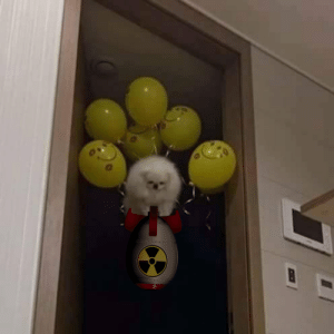 Hiroshima, Soldier, and Nuclear Bomb: U.S soldier about to drop nuclear bomb on Hiroshima (circa 1945 colourised)