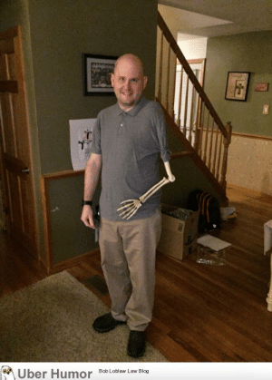 failnation:  Confusing trick-or-treaters with a posable skeleton arm for the last 2 years: Uber Humor  Bob Loblaw Law Blog failnation:  Confusing trick-or-treaters with a posable skeleton arm for the last 2 years