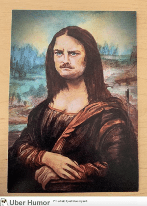failnation:  My co-worker painted this for me as a parting gift: Uber Humor  I'm afraid I just blue myself. failnation:  My co-worker painted this for me as a parting gift