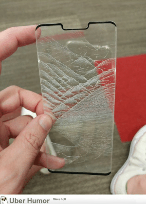 failnation:  This broken screen protector looks like a mountainous landscape: Uber Humor  Steve holt! failnation:  This broken screen protector looks like a mountainous landscape