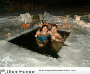 Russia sends condolences to you on your polar vortex, North America.http://meme-rage.tumblr.com: Uber Humor  There's always money in the banana stand Russia sends condolences to you on your polar vortex, North America.http://meme-rage.tumblr.com