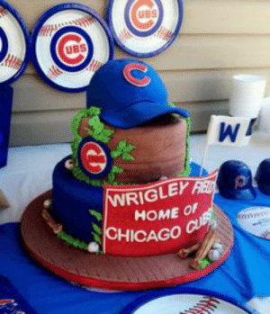Astounding Ubs Ubs Wrigley Red Home Of Chicago Cur Chicago Cubs Birthday Cake Personalised Birthday Cards Petedlily Jamesorg