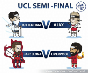 Android, Apple, and Barcelona: UCL SEMI-FINAL  AJAX  TOTTENHAM  BARCELONA  LIVERPOOL  w.facebook.com/Justtoonit UCL Last 4 4หมู่บ้านสุดท้ายคิดว่าหมู่บ้านไหนจะชนะ  ▶ Download free livescore apps here on iOS and Android ▶ ดาวน์โหลดแอพผลบอลฟรีได้แล้ววันนี้ ทั้ง iOS และ Android 📲 iOS : https://apple.co/2HLLsmL 📲 Android : https://bit.ly/2RzkBdu #FinalGoal #ผลบอลสดครบทุกแมตช์