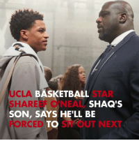 UCLA basketball star Shareef O'Neal, Shaq's son, says he'll be forced to sit out next season due to a heart issue that will require major surgery but vows to return ASAP. shareefoneal shaq tmz ucla: UCLA  SHAREEF O'NEAL,  SON, SAYS HE'LL BE  FORCEDTO SIT OUT NEXT  BASKETBALL  SHAQ'S UCLA basketball star Shareef O'Neal, Shaq's son, says he'll be forced to sit out next season due to a heart issue that will require major surgery but vows to return ASAP. shareefoneal shaq tmz ucla