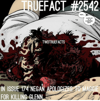 You're welcome for the graphic picture😁 TheWalkingDead TWD WalkingDead: UEFACT #2542  HEH..  LUCILLE  IS A  VAMPIRE  BAT  TWDTRUEFACTS  IN ISSUE 174 NEGAN APOLO  FOR KILLING GLEN  IE You're welcome for the graphic picture😁 TheWalkingDead TWD WalkingDead