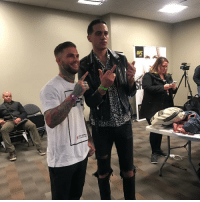 Cody getting support from @g_eazy backstage. Cool cat! ufc207 @ufc: UFC  207 Cody getting support from @g_eazy backstage. Cool cat! ufc207 @ufc