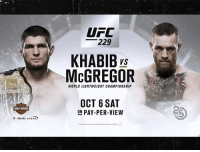 Memes, Ufc, and Mobile: UFC  229  KHABIBs  McGREGOR  VS  WORLD LIGHTWEIGHT CHAMPIONSHIP  OCT 6 SAT  ON PAY-PER-VIEW  F-Mobile- ARENA Khabib vs McGregor is official. Not too early to give your prediction. tmz tmzsports ufc conormcgregor khabibnurmagomedov