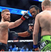Conor McGregor didn't appreciate Dennis Siver refusing to touch gloves before their fight.. theladbible: UFC UFC Conor McGregor didn't appreciate Dennis Siver refusing to touch gloves before their fight.. theladbible