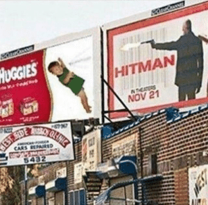 Poor ad placements. via /r/funny https://ift.tt/2JVqT33: UGGIES  HITMAN  NOV 21 Poor ad placements. via /r/funny https://ift.tt/2JVqT33