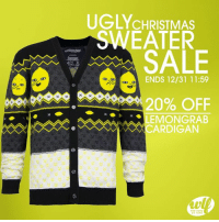 You don't own this Lemongrab sweater yet? UNACCEPTABLE!!! 🍋🍋🍋   Available now at 20% off only at We Love Fine: http://bit.ly/2gJYgqY #NationalUglySweaterDay: UGLY CHRISTMAS  EATER  SALE  ENDS 12/31 11:59  20% OFF  LEMONGRAB  CARDIGAN  ar FANS You don't own this Lemongrab sweater yet? UNACCEPTABLE!!! 🍋🍋🍋   Available now at 20% off only at We Love Fine: http://bit.ly/2gJYgqY #NationalUglySweaterDay