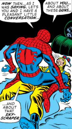 Uh… Spidey? What are you doing to him?: Uh… Spidey? What are you doing to him?