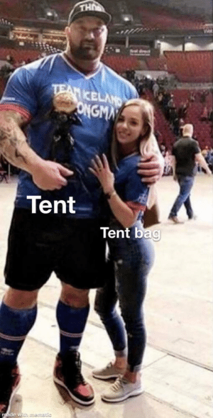 It really do be like that: UH  ldect  TEAM IKELAND  ONGMN  Tent  Tent bag  made with muematic It really do be like that