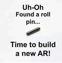 All we need is a reason!: Uh-Oh  Found a roll  pin  Time to build  a new AR! All we need is a reason!