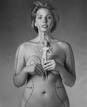 """uhgly:  iwontstandinyourway:  learning-to-love-myself:  nothingishappyanymore:  If Barbie was an actual woman, she would be 5'9"""" tall, have a 39"""" bust, an 18"""" waist, 33"""" hips and a size 3 shoe. • Barbie calls this a """"full figure"""" and likes her weight at 110 lbs. • At 5'9"""" tall and weighing 110 lbs, Barbie would have a BMI of 16.24 and fit the weight criteria for anorexia. She likely would not menstruate. • If Barbie was a real woman, she'd have to walk on all fours due to her proportions. • Slumber Party Barbie was introduced in 1965 and came with a bathroom scale permanently set at 110 lbs with a book entitled """"How to Lose Weight"""" with directions inside stating simply """"Don't eat."""" i'm always reblogging this. I've reblogged this a million times and will ALWAYS reblog it. She is so beautiful…It's a great message.  I always reblog this when I see it on my dash.  You cant just NOT reblog this  so fucking perfect. : uhgly:  iwontstandinyourway:  learning-to-love-myself:  nothingishappyanymore:  If Barbie was an actual woman, she would be 5'9"""" tall, have a 39"""" bust, an 18"""" waist, 33"""" hips and a size 3 shoe. • Barbie calls this a """"full figure"""" and likes her weight at 110 lbs. • At 5'9"""" tall and weighing 110 lbs, Barbie would have a BMI of 16.24 and fit the weight criteria for anorexia. She likely would not menstruate. • If Barbie was a real woman, she'd have to walk on all fours due to her proportions. • Slumber Party Barbie was introduced in 1965 and came with a bathroom scale permanently set at 110 lbs with a book entitled """"How to Lose Weight"""" with directions inside stating simply """"Don't eat."""" i'm always reblogging this. I've reblogged this a million times and will ALWAYS reblog it. She is so beautiful…It's a great message.  I always reblog this when I see it on my dash.  You cant just NOT reblog this  so fucking perfect."""