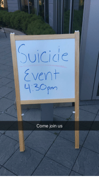 Heaven, Suicide, and Gate: )UİCide  vent  4130pm  Come join us Members of Heavens Gate cult, preaching about their mass suicide plans, 1999