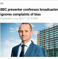 """Memes, Party, and Home: UK  BBC presenter confesses broadcaster  ignores complaints of bias  Published: 6 Jun 2017 16:10 GMT BBC Newsnight host Evan Davis has admitted that although his employer receives thousands of complaints about alleged editorial bias, producers do not act on them at all. """"All the time we get those [bias accusation] emails. And honestly, no one at the BBC takes those kinds of things into account,"""" the journalist said during a talk at the Hay Festival on Sunday. """"Maybe people at the very top of the BBC do, I don't know. Maybe they do. But none of the people who are making programs do."""" The publicly-owned broadcaster has had to deal with copious accusations of pandering to both the political left and right. Recently, controversy arose after the airing of a BBC election debate, when the Conservative Party lodged a complaint that the audience was too left-leaning. The audience cheered Labour leader Jeremy Corbyn and heckled Conservative stand-in, Home Secretary Amber Rudd. The debate, which Prime Minister Theresa May dodged, was watched by an estimated 3.6 million people. Davis did, however, highlight that the BBC has rather strict guidelines on fairness and representation. """"There are some diktats at the BBC. They'll be on certain specific things like, 'you have to interview a Lib Dem during this part of the campaign,' 'you cannot not have a Lib Dem on your program,' or 'you can't do this thing without having UKIP on' or something like that,"""" he argued https:-www.rt.com-uk-391141-bbc-presenter-admits-bias-"""