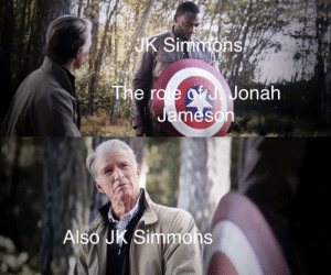 J. Jonah Jameson, J.K. Simmons, and Jonah: UK Simmons  The ro e of J. Jonah  Jameson  Also JK Simmons The only worthy replacement