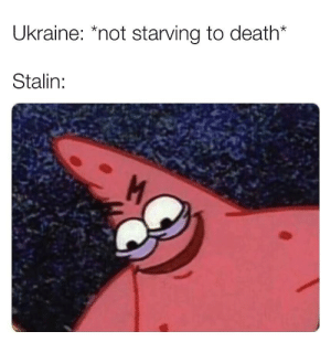 Dank, Memes, and Reddit: Ukraine: *not starving to death*  Stalin: Holodomor memes = worth standing in line for by Therightsideofhell FOLLOW 4 MORE MEMES.