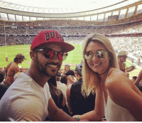 Memes, 🤖, and Mrs: UL Mr. and Mrs. JP Duminy enjoy a rugby match together