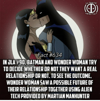 She never told him why she said no😢😢 -- Who do you want to see together in the movies...WonderBat or SuperWonder: ULTIMATE  HERO FACT  Fact#634  IOLA #90, BATMAN AND WONDER WOMAN TRY  TO DECIDE WHETHER OR NOT THEY WANT AREAL  RELATIONSHIP OR NOT. TOSEE THE OUTCOME,  WONDER WOMAN SAWA POSSIBLE FUTURE OF  THEIR RELATIONSHIP TOGETHER USING ALIEN  TECH PROVIDED BY MARTIAN MANHUNTER She never told him why she said no😢😢 -- Who do you want to see together in the movies...WonderBat or SuperWonder