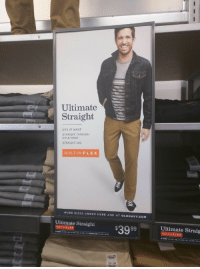 r/definitelynotmeirl: Ultimate  Straight  SITS AT WAIST  STRAIGHT THROUGH  HIP & THIGH  STRAIGHT LEG  BUILT-INFLEX  MORE SIZES UNDER HERE AND AT OLDNAVY.COM  Ulimale Straight $3999  Ultimate Straig  ILT-IN FLEX  ILT-IN F LEX  IN-STORE 28 40  30, 3040W x 32  32-38  33 x30 r/definitelynotmeirl