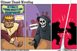 Omg, Tumblr, and Wrestling: Ultimate Thumb Wrestling  ULTIMAT  THUMB WRESTLING  CHAMPIONSHIP  GO KING  MIDAS!  DEATH  2017 ALEXANDER HOFFMAN. ALL RIGHTS RESERVED  OF ABSURDITY.COM  TAL omg-images:  Ultimate Thumb Wrestling