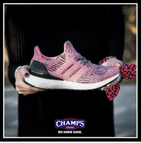 Memes, Boost, and 🤖: ultra boost  CHAMPS  SPORTS  WE KNOW GAME. An adidas UltraBoost just for the ladies! 2-1 save the date! 🎀 Tag a female.
