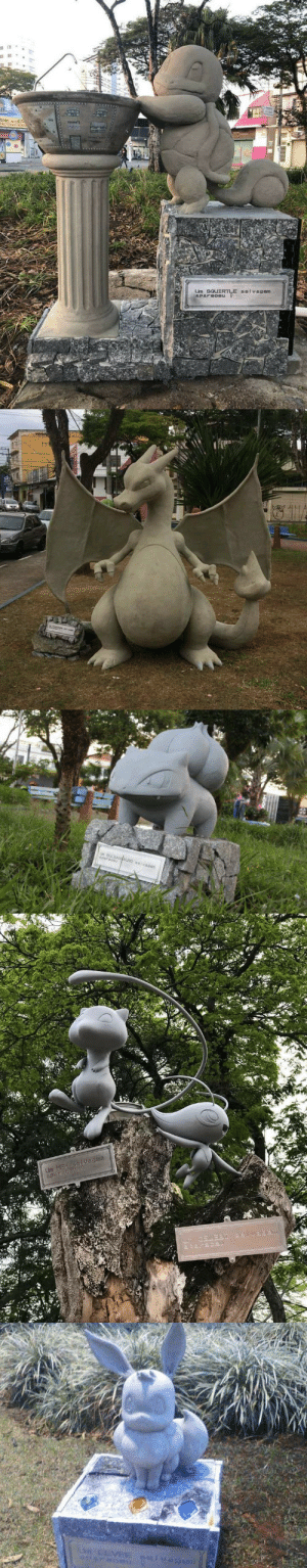 coldhologirlcrusade:  retrogamingblog:  Pokemon statues have been mysteriously popping up in parks in Brazil  And yet I see no radical Pokémon go-esque fan dividing changes? Curiouser and curiouser: Um 9GUI coldhologirlcrusade:  retrogamingblog:  Pokemon statues have been mysteriously popping up in parks in Brazil  And yet I see no radical Pokémon go-esque fan dividing changes? Curiouser and curiouser