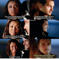 [8x07 - The Next Time I Hurt Someone, It Could Be You] They are so adorable 😂 Also, I love how romantic Enzo actually is 😍 ⠀ Q: Bonnie or Enzo? (Just a fun question bc I'm curious lol) ⠀ My edit give credit [ bonenzo bonniebennett enzo enzostjohn tvd thevampirediaries vampirediaries tvdforever|137.8k]: Um, you should know that  You're taking me to Paris  and I bought you T-shirts  T-shirts! I suck.  [Figured you were tired of  me sleeping in yours.  Bonnie Bennett. You are the  gift I've always wanted. [8x07 - The Next Time I Hurt Someone, It Could Be You] They are so adorable 😂 Also, I love how romantic Enzo actually is 😍 ⠀ Q: Bonnie or Enzo? (Just a fun question bc I'm curious lol) ⠀ My edit give credit [ bonenzo bonniebennett enzo enzostjohn tvd thevampirediaries vampirediaries tvdforever|137.8k]