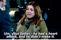 Crying, Memes, and Heart: Um, your father-he had a heart  attack, and he didn't make it. I'm crying just looking at this. #HIMYM https://t.co/h6JAmAWBzJ