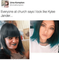 Coconut head looks so good now😍😍: Uma Kompton  @UmaKompton  Everyone at church says I look like Kylee  Jander. Coconut head looks so good now😍😍