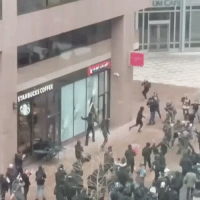 Regram @fox5dc: Protesters smashed the windows of a Starbucks and Bank of America. Trump45 Inauguration: UMCAJ  STARBUCKS COFFEE Regram @fox5dc: Protesters smashed the windows of a Starbucks and Bank of America. Trump45 Inauguration
