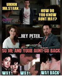 Before you were both Peter, Mr.Stark RobertDowneyJr and your Aunt May MarisaTomei were all over each other in the film ONLY YOU released in 1994. . . 🕸️Can't wait to see Homecoming Tonight!!🕷️ . . throwback maryjanewatson marvel tomholland spiderman avengers onlyyou captainamerica thor ironman stark comiccon cosplay superheroes dbz anime batman kingofthenerds nerd drstrange gaming guardiansofthegalaxy blackwidow thanos comicbooks legend: UMMM  MR STARK  HOW DO  YOU KNOW  PARD  -AUNT MAYP  -HEY PETER  SO ME AND YOUR AUNT GO BACK  WAY WAY WAY BACK Before you were both Peter, Mr.Stark RobertDowneyJr and your Aunt May MarisaTomei were all over each other in the film ONLY YOU released in 1994. . . 🕸️Can't wait to see Homecoming Tonight!!🕷️ . . throwback maryjanewatson marvel tomholland spiderman avengers onlyyou captainamerica thor ironman stark comiccon cosplay superheroes dbz anime batman kingofthenerds nerd drstrange gaming guardiansofthegalaxy blackwidow thanos comicbooks legend