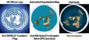 UN Official Logo Azimuthal Equidistant Map Flat Earth Our