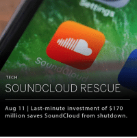 SoundCloud, the online music streaming platform, has accepted a $170 million investment from a Singapore-based investment bank. The company, which laid off 40 percent of its staff in July due to financial struggles, will be replacing its chief executive with former Vimeo CEO Kerry Trainor. (Source: Tech Crunch): un  TECH  SOUNDCLOUD RESCUE  Aug 11 Last-minute investment of $170  million saves SoundCloud from shutdown. SoundCloud, the online music streaming platform, has accepted a $170 million investment from a Singapore-based investment bank. The company, which laid off 40 percent of its staff in July due to financial struggles, will be replacing its chief executive with former Vimeo CEO Kerry Trainor. (Source: Tech Crunch)