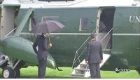 United, Only One, and United States: UN What happens when you're the president of the United States, it's raining and you're the only one with an umbrella?