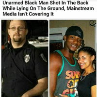 "Jail, Memes, and Police: Unarmed Black Man Shot In The Back  While Lying On The Ground, Mainstreanm  Media lsn't Covering It Rp @thevitiligo_outlaw - 27 year old DejuanGuillory & his girlfriend were riding a four wheeler late night, on a gravel road headed to a lake to go swimming… and passed an officer on the side of the road. The officer stopped them and asked for their IDs, which they didn't have due to the fact they say were going swimming and didn't want to lose them in the water. DeQuince Brown, the girlfriend of Guillory, states the officer got in Dejuans face and began to yell at them about not having identification. The officer Lefleur & Dejuan got into an argument. Dejuan pushed the officers finger out of his face and in return Officer Lefleur pushed Dejuan off of the 4 wheeler. The 2 got into a fist fight. DeQuince begged her boyfriend to stop in which he did and retreated back to the 4 wheeler. Lefleur drew his weapon and ordered the couple to the ground. ""They were both on the ground. Guillory was on the ground, on his belly, his hands behind his back, and the officer had a gun trained at Guilregraback. They were still arguing back and forth but Guillory was on the ground as directed. His hands were behind his back. He was not resisting. He began pleading, ""please don't shoot me, I have three kids,"" All of a sudden, a shot rang out."" According to DeQuince Brown, she jumped on the officer's back to prevent him from killing her boyfriend and bit LaFleur (hence the reported injuries to the officer). LaFluer then fired three more shots at Guillory. (DeQuince is currently in jail on charges of attempted murder of a police officer.) Brown also states that two ambulances came to the scene, but ""One ambulance loaded the deputy in and took him to the hospital. The other one left empty. When she left in a police car, Guillory's body was still on the gravel road."" When asked if anyone treated Guillory, ""As far as she knows, she never witnessed anybody attempt CPR for Guillory. It may have happened, but she didn't see it."" 😠😢 this is the world we're living in. RIP DejuanGuillory he leaves behind 3 kids. *update* rumors are circulating that Dejuan was sleeping with the officers ex wife. TheVitiligoOutlaw - - regrann 4biddenknowledge"