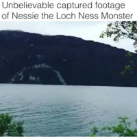 Twitter: BLB247 Snapchat : BELIKEBRO.COM belikebro sarcasm meme Follow @be.like.bro: Unbelievable captured footage  of Nessie the Loch Ness Monster Twitter: BLB247 Snapchat : BELIKEBRO.COM belikebro sarcasm meme Follow @be.like.bro