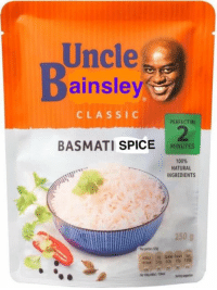 Memes, Classical, and Be Happy: Uncle  Dainsley  CLASSIC  PERFECT IN  BASMATI  SPICE M  MINUTES  100%  NATURAL  INGREDIENTS  250 g Uncle Ben won't be happy...  Credit: Sam Wright.